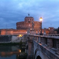 Castel Sant'Angelo in Rome at dawn