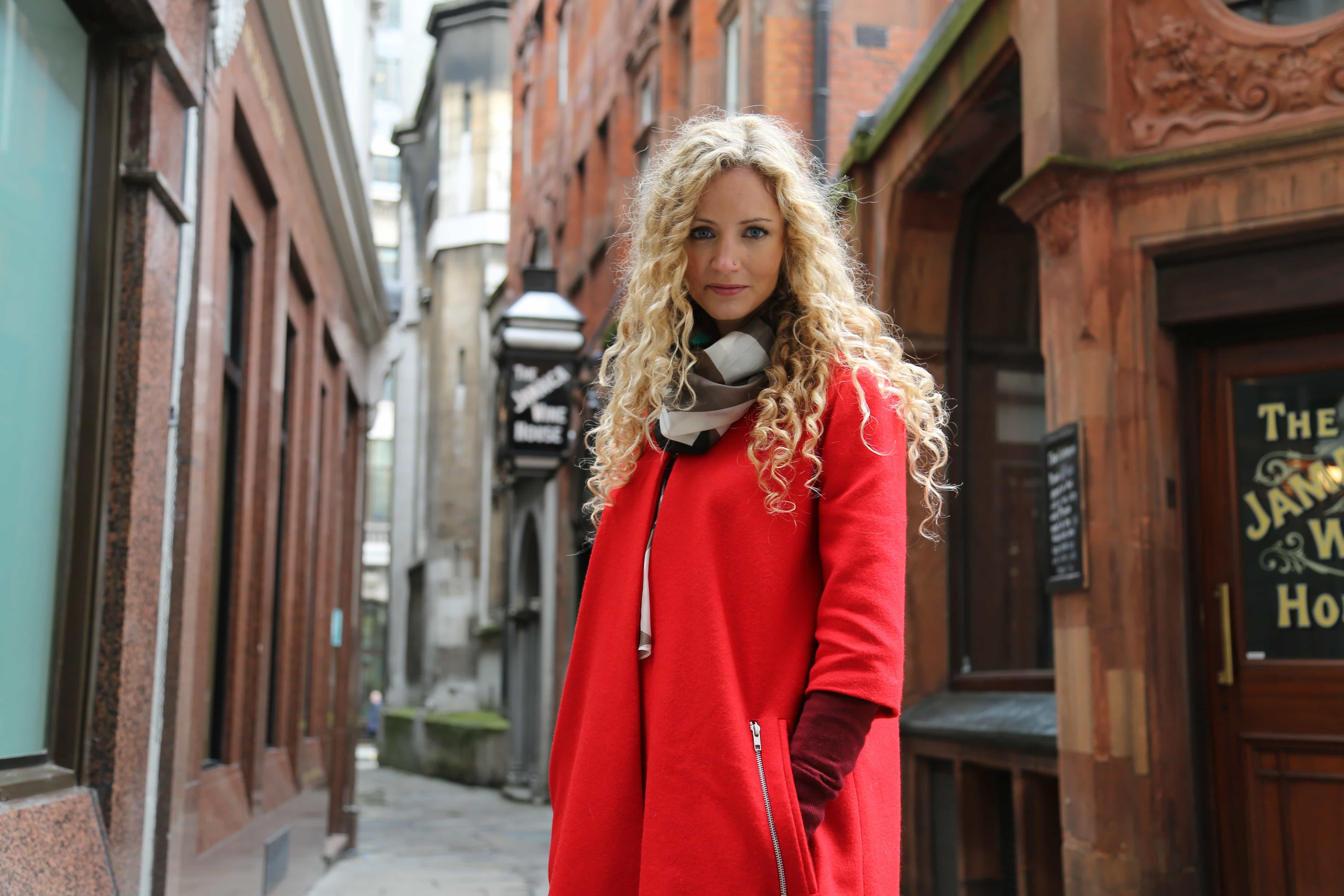 My lovely red coat comes from Beatrice Perry London.