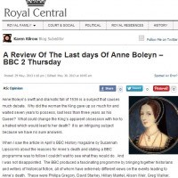 A Review of the Last Days of Anne Boleyn