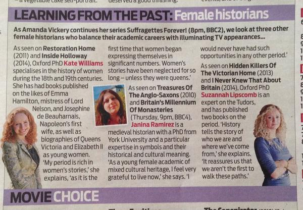 Daily Mail - Three female historians