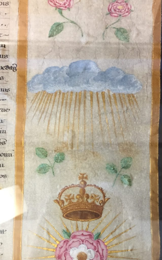 Rays from a cloud - Edward III's badge