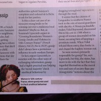 BBC History Magazine, April 2012, p. 13, 'When gossip was good'