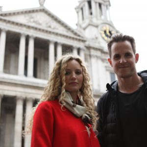With my on-screen husband, at St Paul's.