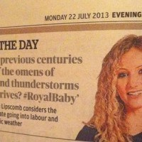 My tweet in the Evening Standard July 2013