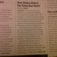 Radio Times re Edwardian Killers