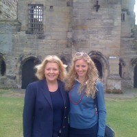 With Curator Lesley Smith at Tutbury Castle
