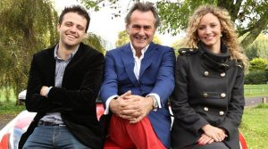 From ITV Studios   I NEVER KNEW THAT ABOUT BRITAIN Global Games Changers  Monday 3rd March 2014 on ITV   Pictured: Presenters Steve Mould, Paul Martin and Suzannah Lipscomb